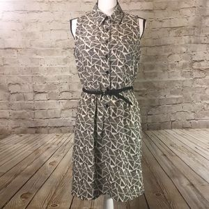 By & by triangle print dress with belt GORGEOUS